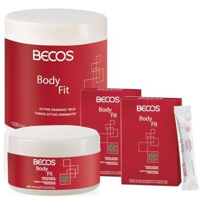Body Fit Professional- Dränschlamm & Serum (20) Cellulite +cr.400 Ml Tonikum
