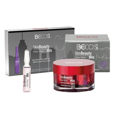 Skin Beauty Mix Urban Stress- Ampolle (7) & Crema Viso Anti-inquinamento